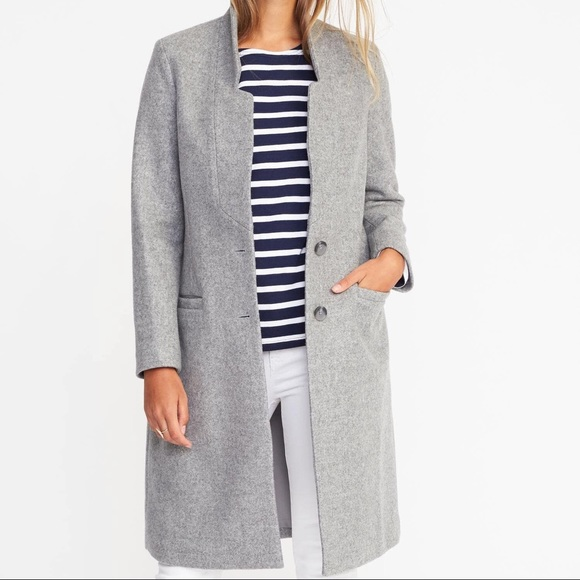 Old Navy Jackets & Blazers - Old Navy Single Breasted Long Grey Coat XL